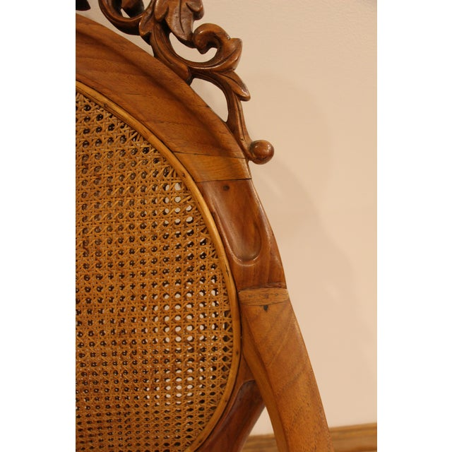 Vintage Carved Accent Chair - Image 6 of 11