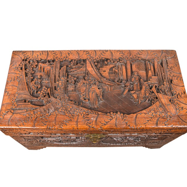 Vintage Chinese Carved Chest - Image 2 of 4