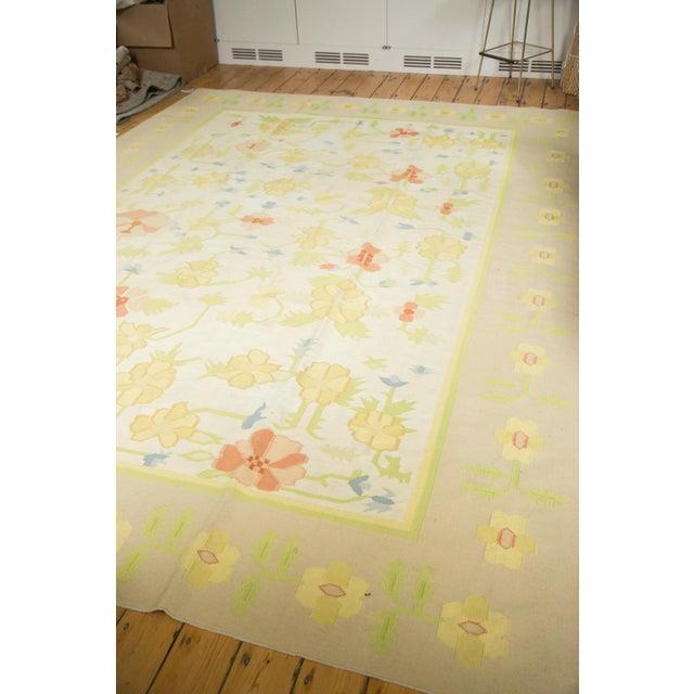 """Vintage Minimalist Dhurrie Carpet - 8'9"""" X 11'10"""" - Image 6 of 10"""