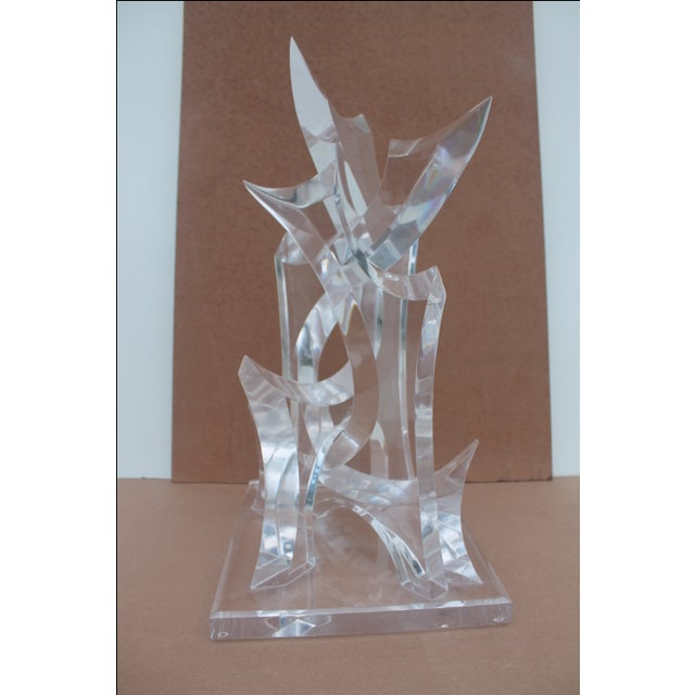 Abstract Lucite Sculpture by Van Tial - Image 2 of 11