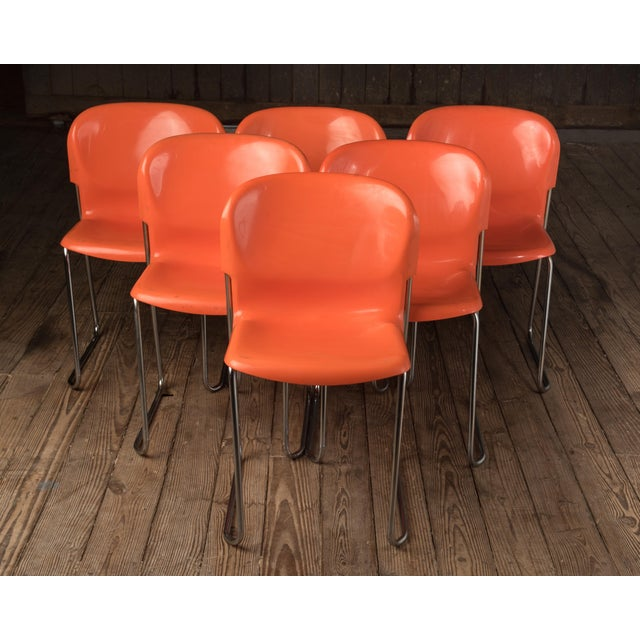 """1976 Vintage Gerd Lange """"Swing Chairs"""" - Set of 6 For Sale - Image 12 of 13"""