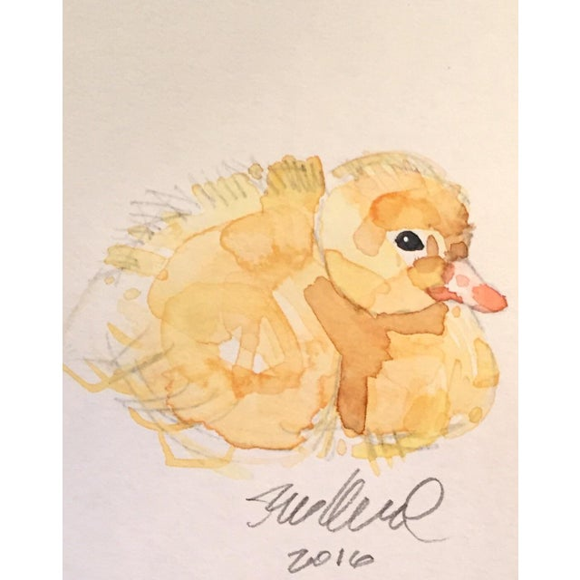 Resting Duckling Watercolor - Image 2 of 2