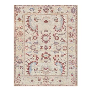 "Persian Mansour Quality Handwoven Sultanabad Rug - 8'2"" X 10' For Sale"