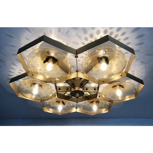 Gold Hive Flush Mount by Fabio Ltd For Sale - Image 8 of 13