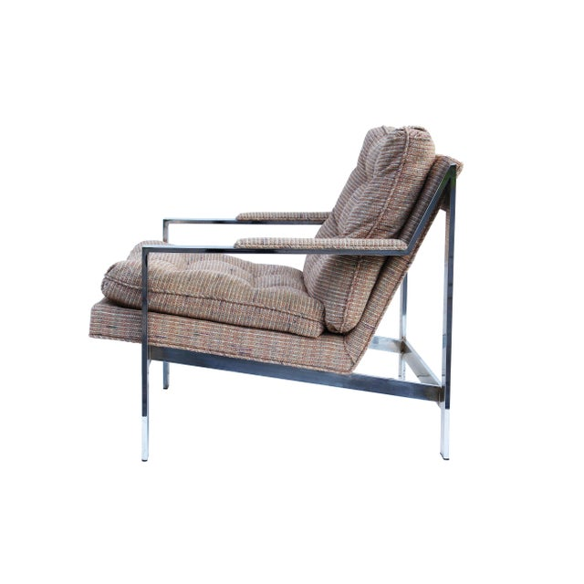 Cy Mann Chrome Flatbar Lounge Chairs, Pair For Sale - Image 6 of 11
