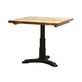 Art Deco 34 In. Square Bistro Table With Cast Iron Base For Sale