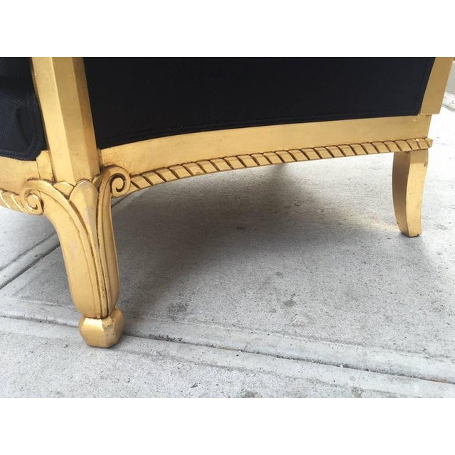 Italian Giltwood Sculptural Lounge Chair For Sale - Image 9 of 9