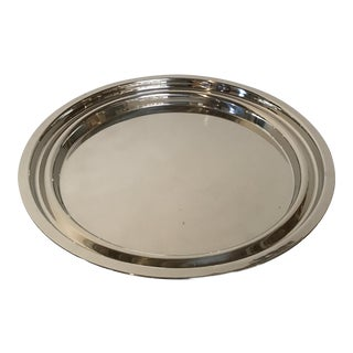 Driade 'Appam I' Polished Stainless Steel Tray by Miki Astori For Sale