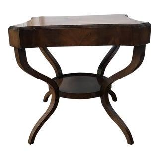 Walnut Neoclassical Cabriole Leg Table For Sale