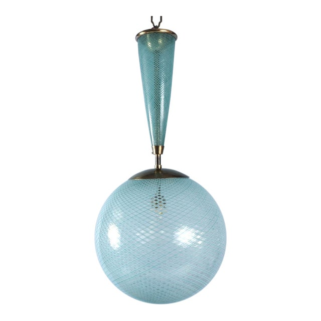 Italian Glass Sphere Lantern For Sale