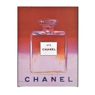 Matted Vintage Chanel No. 5 Perfume Print by Andy Warhol For Sale