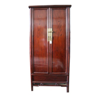 Very Tall Antique Chinese Elmwood Armoire For Sale