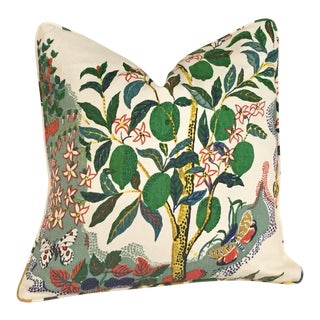 Schumacher Citrus Garden Pillow Cover For Sale