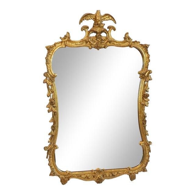 Antique Gilt Gesso Mirror From Waldorf Astoria Hotel New York City For Sale