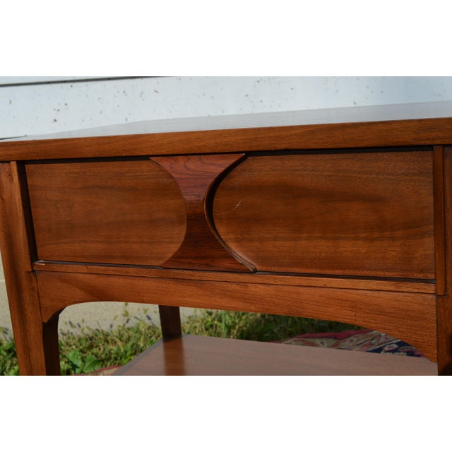 Mid-Century Modern 1960s Mid Century Modern Walnut and Rosewood Perspecta Night Stand by Kent Coffey For Sale - Image 3 of 12