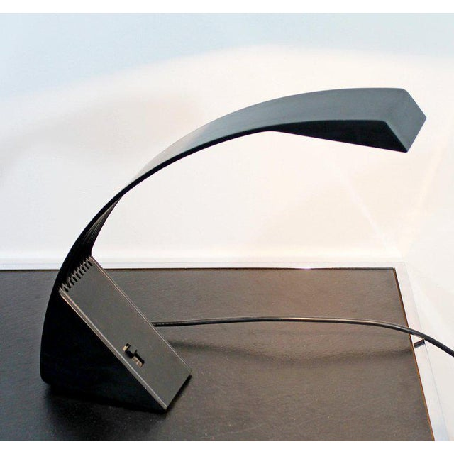 1970s 1970s, Italy Marco Zotta Mid-Century Modern Arcobaleno Halogen Black Desk Lamp For Sale - Image 5 of 9