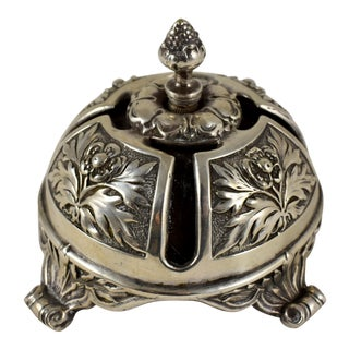 19th Century Silver Plate Dining Servants Table Call Bell For Sale