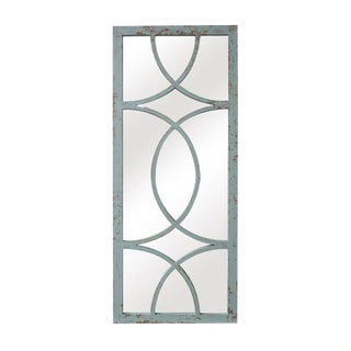 Jardin Distressed Verdi Gris Rustic Style Wall Mirror For Sale