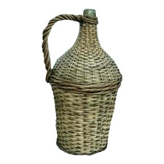 Early 20th Century French Wine Demijohn For Sale