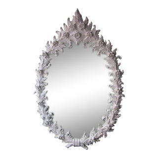 Large Polyester Plaster Mirror For Sale