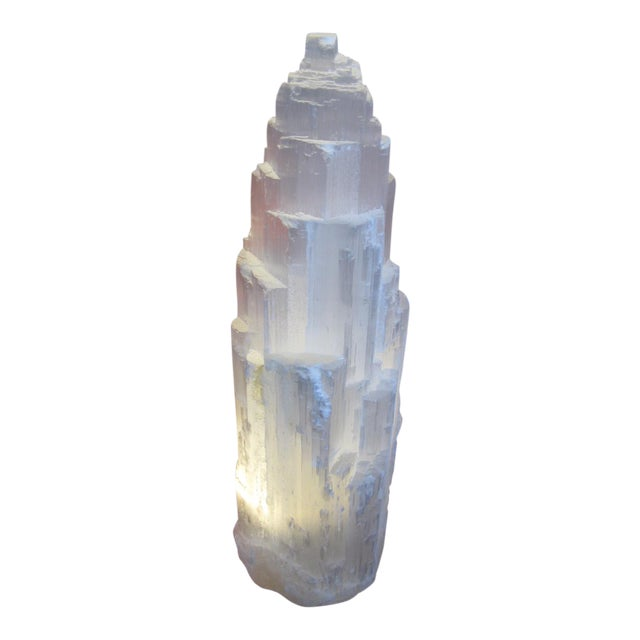 Selenite Lamp Skyscraper For Sale