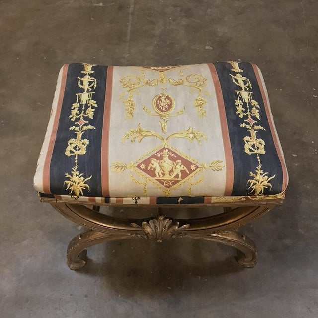 19th Century Giltwood Vanity Stool For Sale - Image 4 of 11