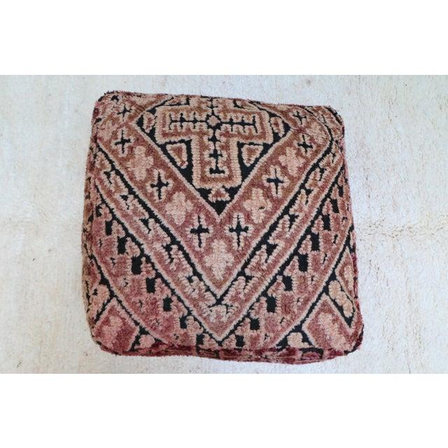 Tufenkian Artisan Carpets Moroccan Mauve Unstuffed Pouf Cover For Sale - Image 4 of 11