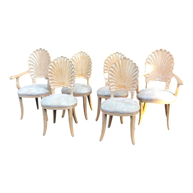 Vintage Clam Shell Grotto Chairs - Set of 6 For Sale