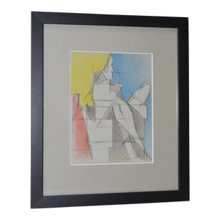 Jacques Villon Original Color Modernist Lithograph c.1964