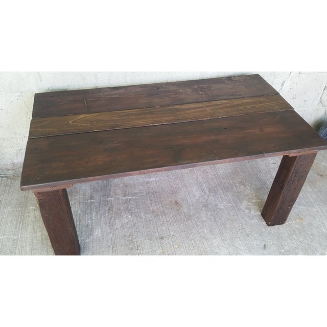 Reclaimed Wood Coffee Table - Image 3 of 4