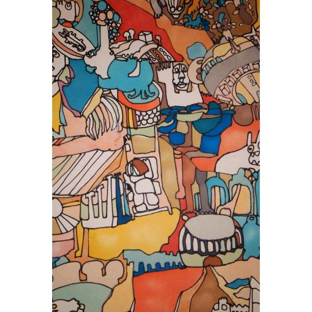 """Illustration E. Price Egan """"Brueger Vision"""" Framed Pen and Ink Drawing For Sale - Image 3 of 13"""