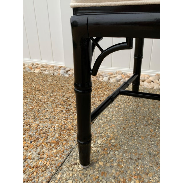 Jonathan Adler Black Lacquered Faux Bamboo Chippendale Chairs, Pair For Sale - Image 10 of 13
