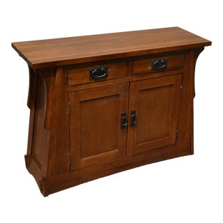 Crafters and Weavers Arts and Crafts Crofter Style Entry Cabinet - Golden Brown For Sale
