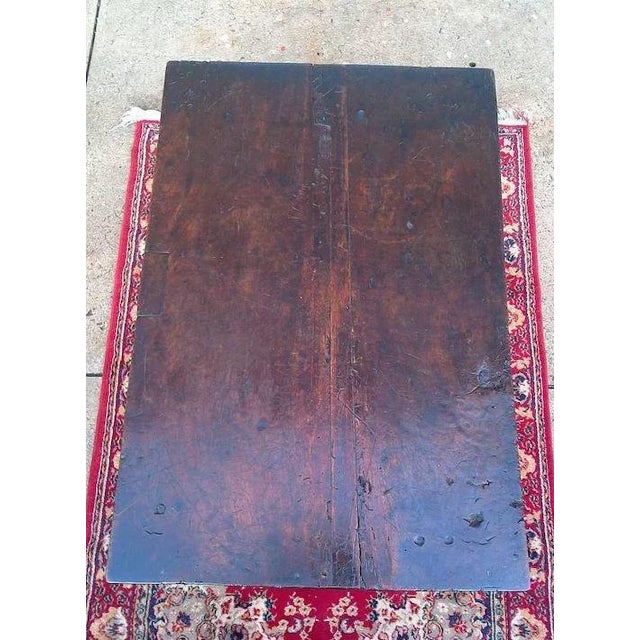 Wood 17th Century Spanish Walnut Campaign or Tavern Table For Sale - Image 7 of 11