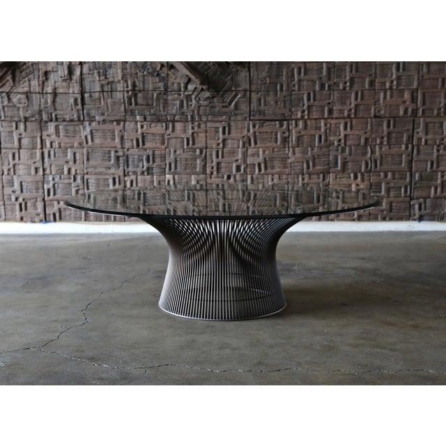 Warren Platner Bronze Coffee Table for Knoll circa 1965. Original glass.
