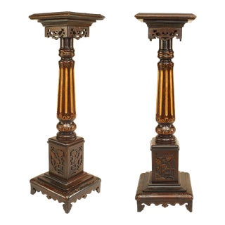 English Regency Column Pedestals For Sale