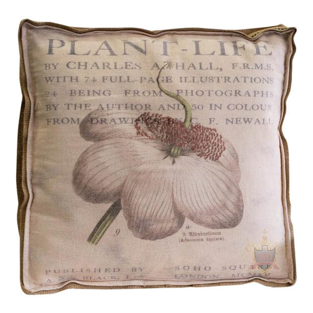 Farmhouse Inspired Multi Layered Botanical Box Pillow For Sale