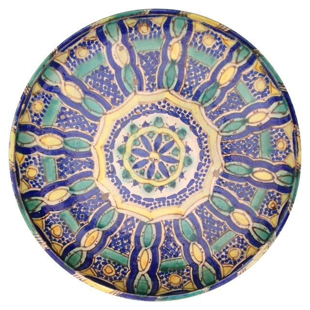Hand Painted Moroccan Platter - Image 1 of 7