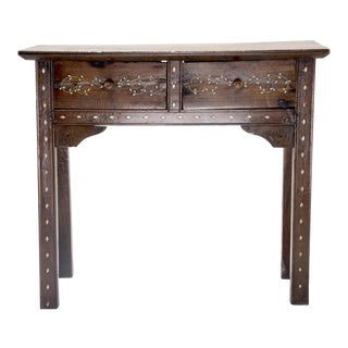 Small Moorish Two Drawer Console with Inlay