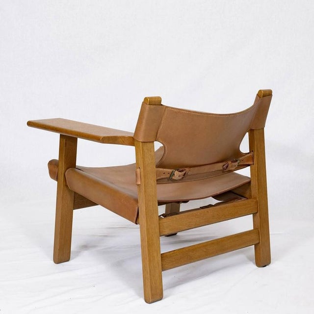 """Pair of Børge Mogensen """"Spanish"""" Chairs For Sale In Los Angeles - Image 6 of 10"""