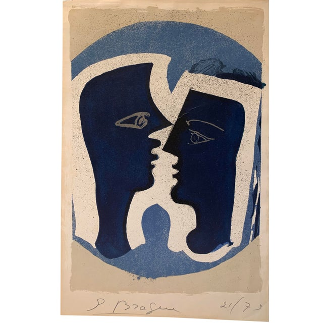 "Georges Braque ""Le Couple"", 1963 Le Signed Color Lithograph For Sale"