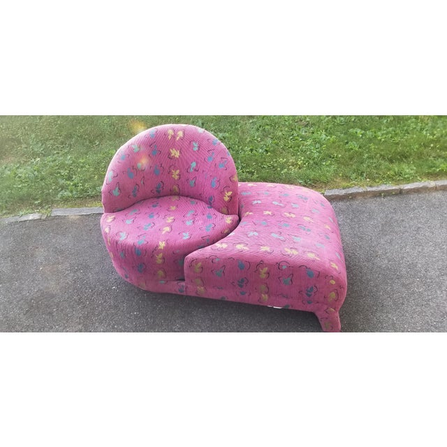 1990s Rare Vladimir Kagan Swivel Chaise for Carsons For Sale - Image 5 of 8