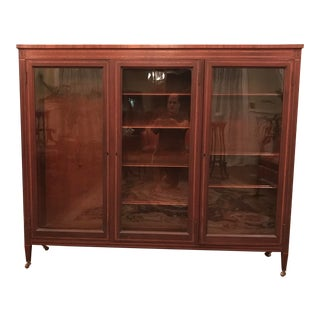 Vintage Library Case with Wavy Glass For Sale