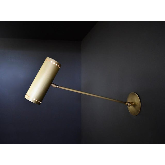 Cannula wall lamp or sconce in luxe hand-finished bronze by Blueprint Lighting, 2020: A handsome study in clean lines and...