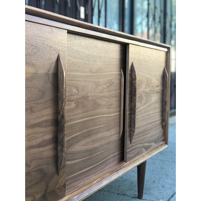 Contemporary Media Stand With Arched Handles For Sale In Los Angeles - Image 6 of 12