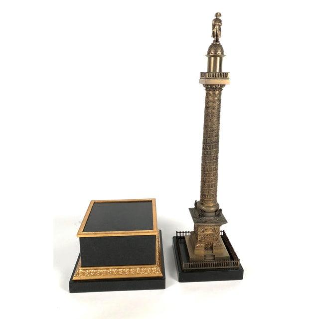 Large Grand Tour Gilt Bronze Model of the Place Vendome Napoleon Column in Paris For Sale - Image 4 of 13