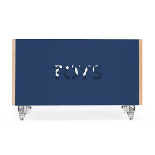 Toy Box Chest on Casters in Birch With Deep Blue Finish Preview