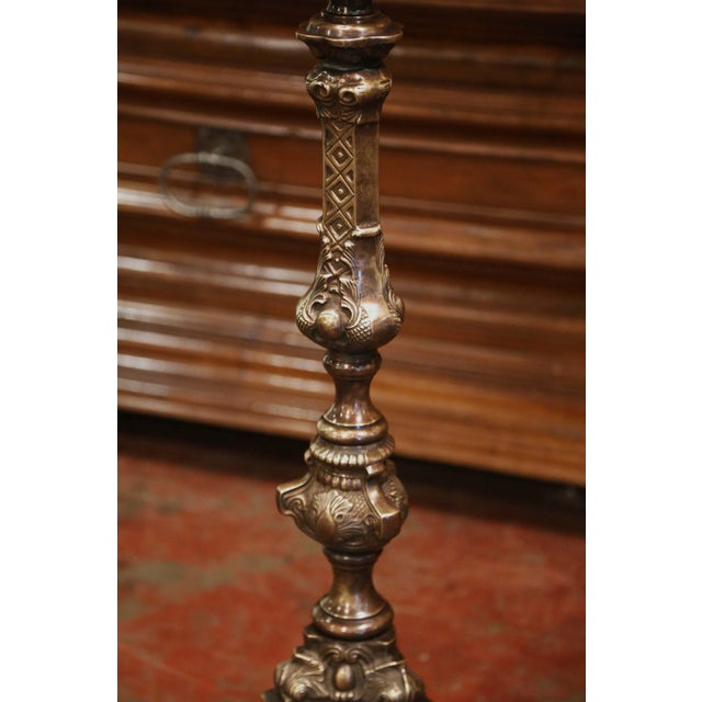 Late 20th Century Vintage French Style Patinated Bronze Lectern Music Stand For Sale - Image 5 of 9