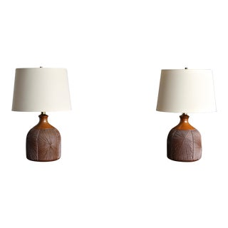 1990s Vintage Earthgender Lamps by David Cressey & Robert Maxwell- A Pair For Sale