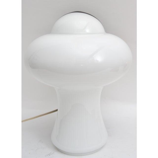 Contemporary Itri Vetri Murano Glass Lamp Mod Black and White For Sale - Image 3 of 7